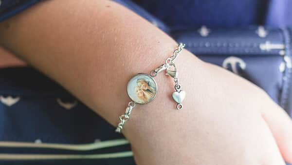 Personalized Photo Bracelet With a Heart Charm