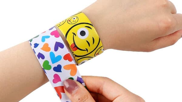 Personalized Slap Bracelet With Custom Color and Message