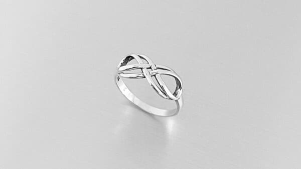 Double Infinity Symbol Ring in Silver (Etsy)