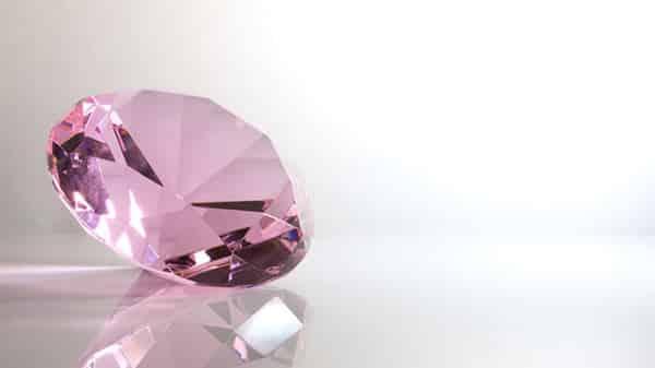 Faceted Pink Gem: Pink Kunzite