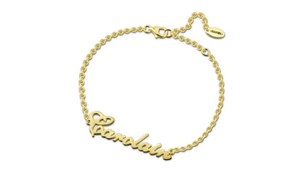 Soufeel Gold Plated Personalized Name Bracelet