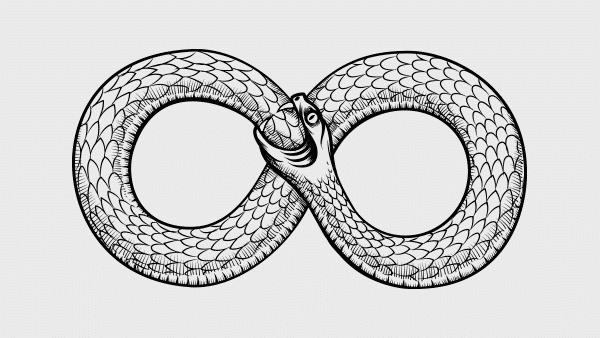 Ouroboros Devouring Its Own Tail: Infinity Ouroboros Ring