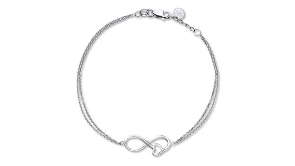 Sterling Silver Infinity Heart Bracelet Suits Any Occasion