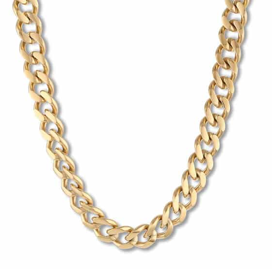 Ion-Plated Stainless Steel Curb Chain for Men