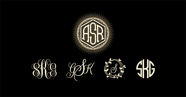 Guide: Jewelry Monogram Fonts and Styles