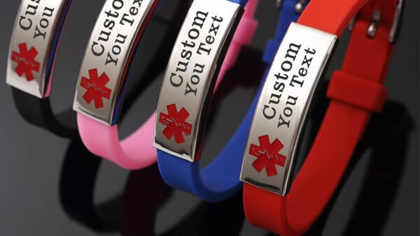 Laser Engraved Custom Silicone Bracelets (Multi Colors)