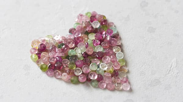Pink Tourmaline With Other Colored Tourmalines