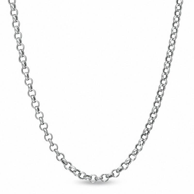 Rolo Chain in Sterling Silver - Zales