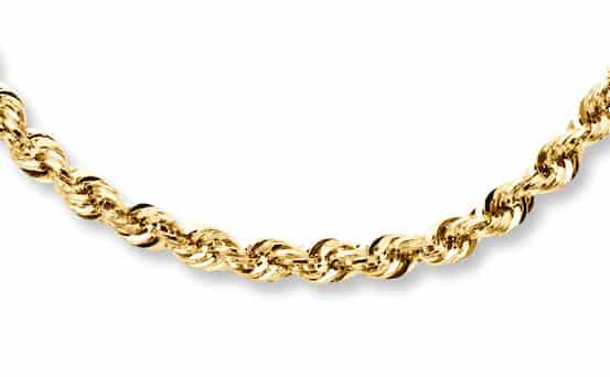 14K Yellow Gold Rope Chain by Kay Jewelers