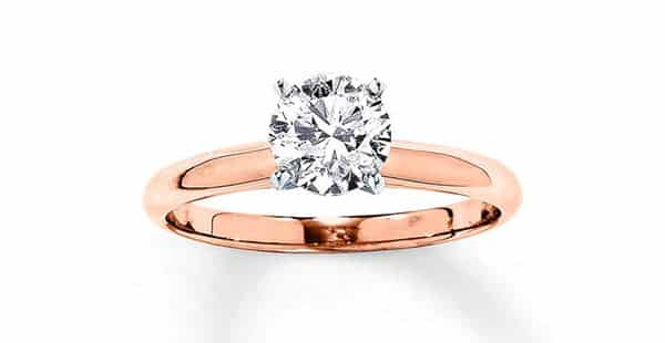 Classic Solitaire Diamond Ring in Rose Metal: Kay Jewelers