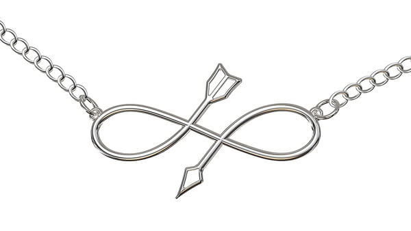 Swedish Malin Infinity Symbol Necklace in Silver