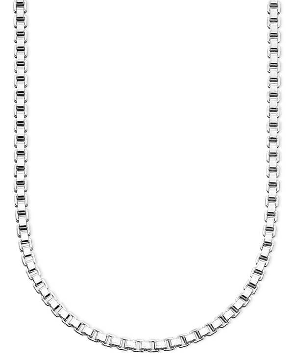Sterling Silver Box Chain by Macy's