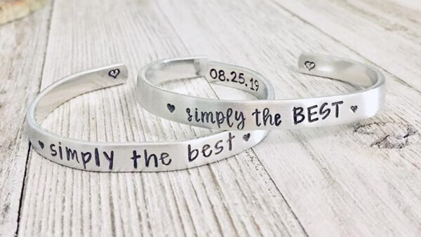 Aluminum Affirmation Bracelets Hand Made by Etsy Sellers