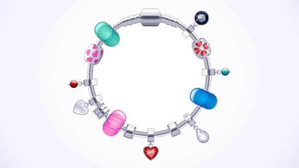 Charm Bracelets With Cute Charms Chosen by the Wearer