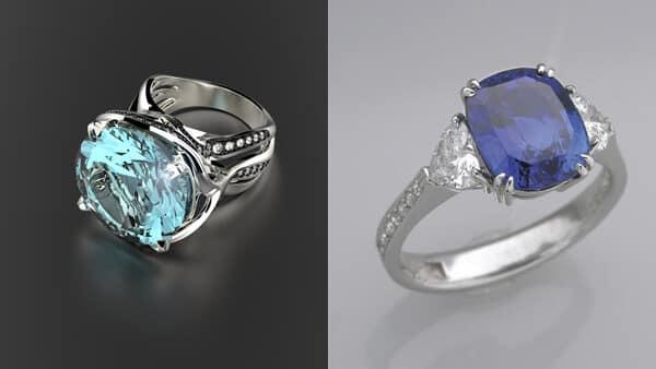 Dark Blue Gemstones V.S. Light Blue Gemstones