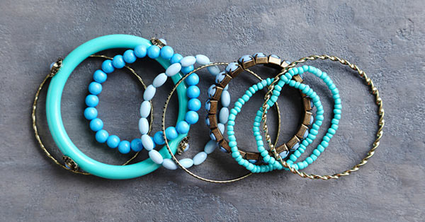 Different Types of Bracelets on a Table