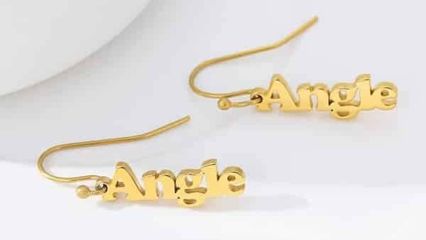 Personalized Drop-Style Name Earrings: Gifts for Women