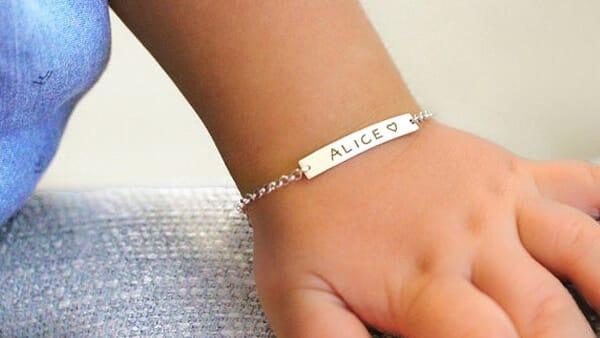 Gold Name Bar Bracelets for Babies - JewelryBlues