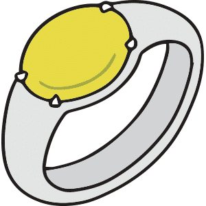 Yellow Mood Ring and Its Meaning