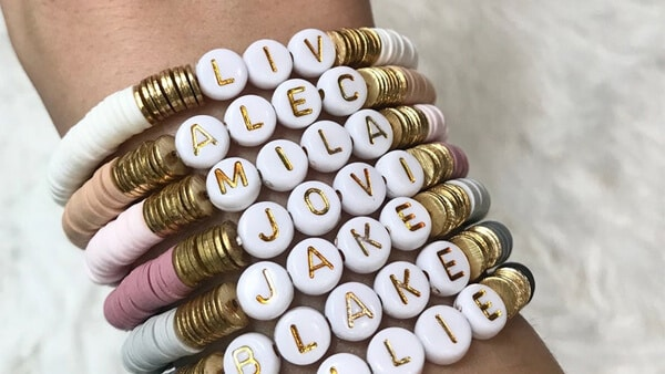 Customizable Name Beaded Bracelets: Spell Your Name Out With Beads