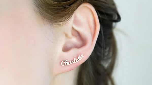 Custom Stud Name Earrings by CaitlynMinimalist: Dainty but Charming