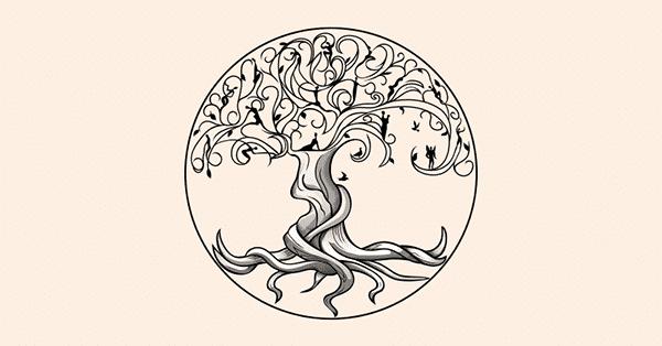 Tree of Life Symbol Sketch