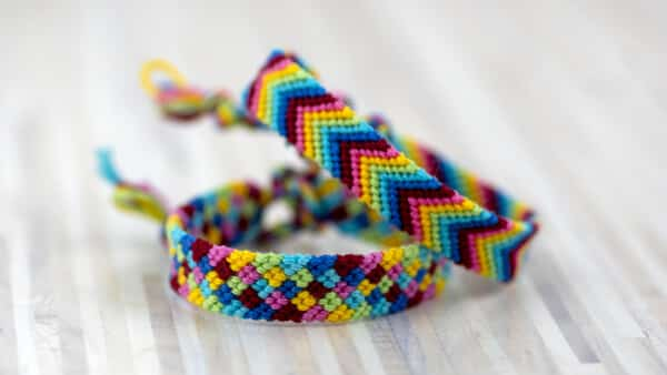 Colorful Friendship Bracelets Made With Woven Strands