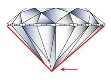 Diamond Symmetry Defect: Off-Center Culet