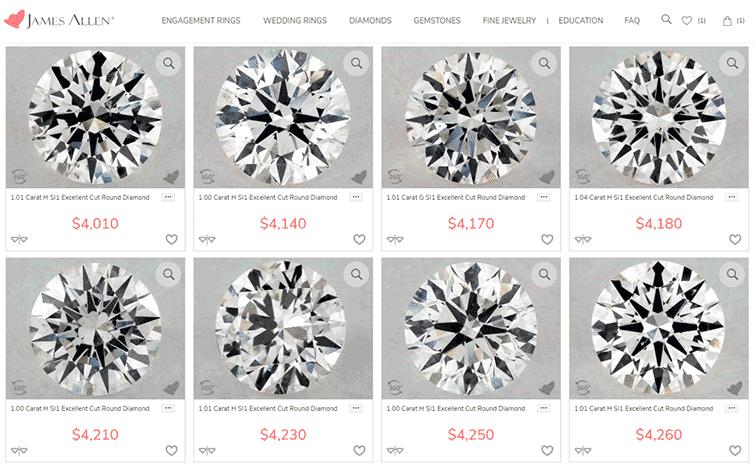 James Allen: Diamond Search Results