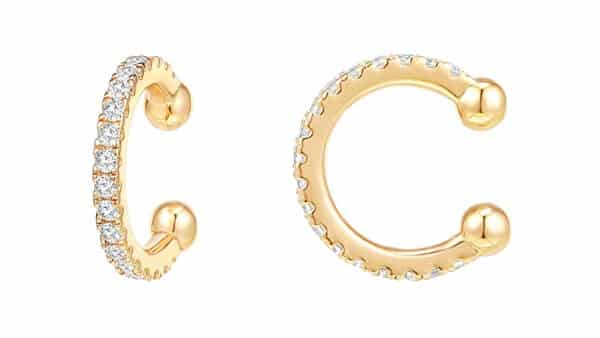 PAVOI Sparkling Cubic Zirconia Ear Cuffs (White, Yellow and Rose Gold)
