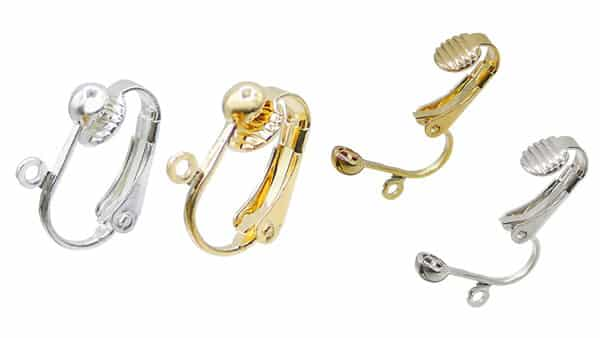 Hinge Style Clip-on Earring Findings (40 Pieces)