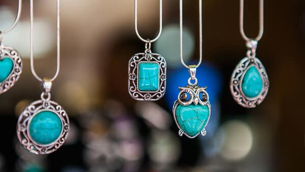 Turquoise Pendant Necklaces in Different Shapes