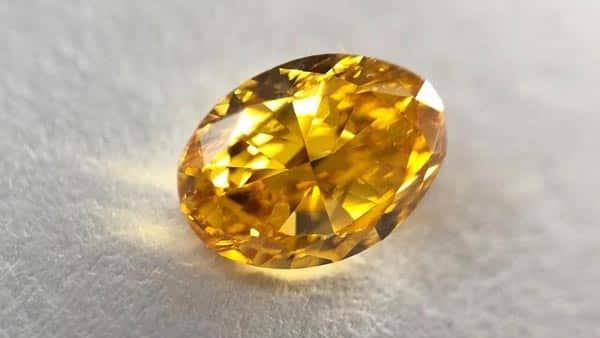 Oval Orange Diamond 0.52 Carat