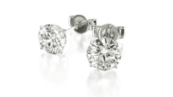 James Allen Four Prong Diamond Studs