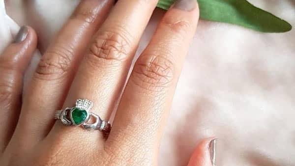 925 Sterling Silver Green Topaz Ring