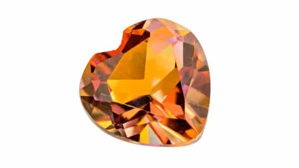 Heart Shape Imperial Topaz Gemstone