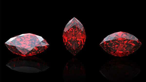 Marquise Shaped Garnet Gemstones for Healing