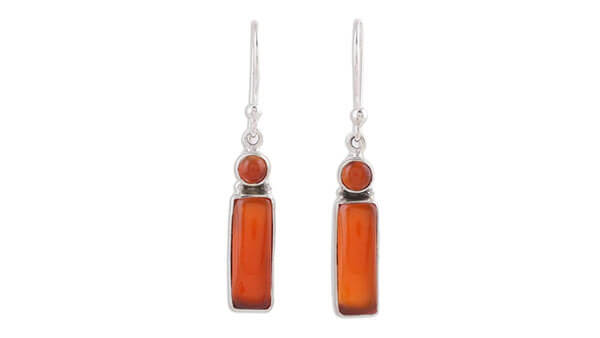 Red Carnelian Dangle Earrings