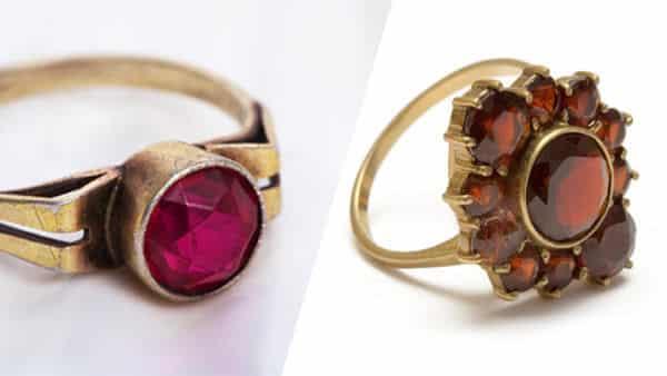 Vintage Style Ruby Ring vs. January Garnet Ring