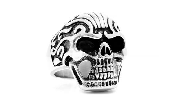 Stainless Steel Metal Skull Ring Jewelry