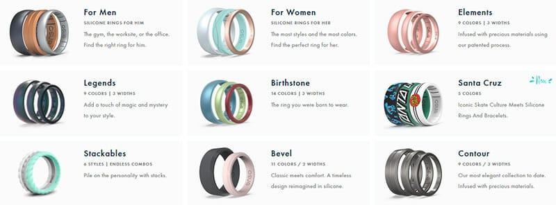 Strength #1 of Silicone Rings: A Variety of Styles