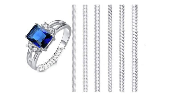 FuXing Spiral Style Transparent Ring Size Adjuster