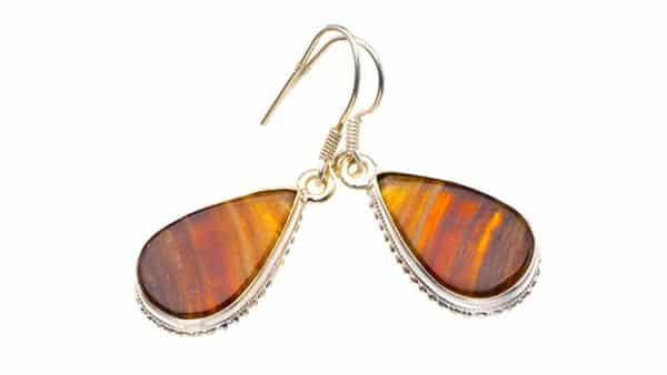 Indonesia Multicolor Jasper Drop Style Earrings