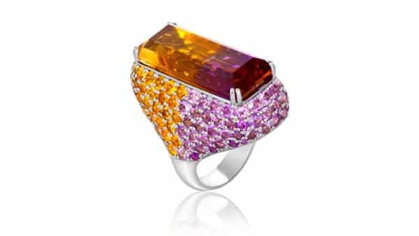Ametrine Gemstone Silver Ring