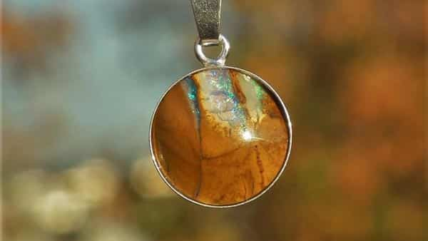 Brown Boulder Opal Pendant