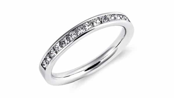 Channel Setting Style Wedding Band