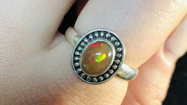 Vintage Style Chocolate Opal Ring