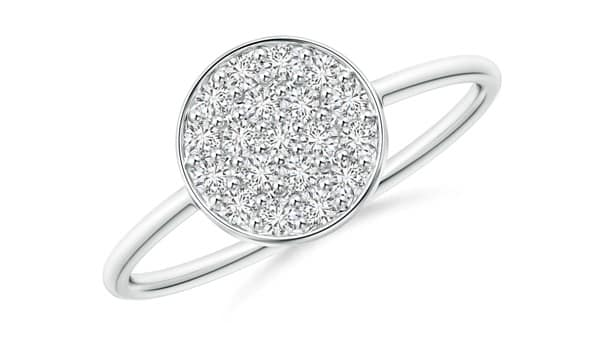 Cluster Setting Ring - Round Disc