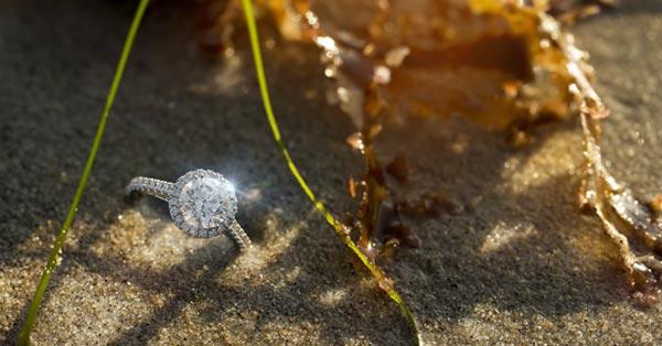 Round Diamond on a Halo Ring Setting