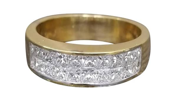 Invisible Ring Setting With Princess Cut Diamonds